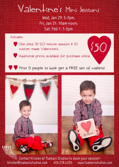 valentines mini session